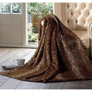 Luxury Faux Fur Throw in Cheetah